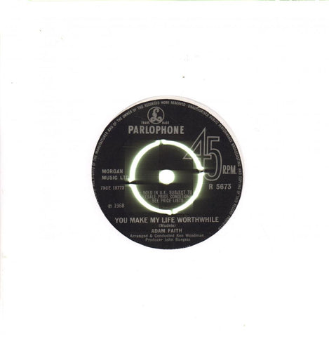 "You Make My Life Worthwhile-Parlophone-7"" Vinyl"