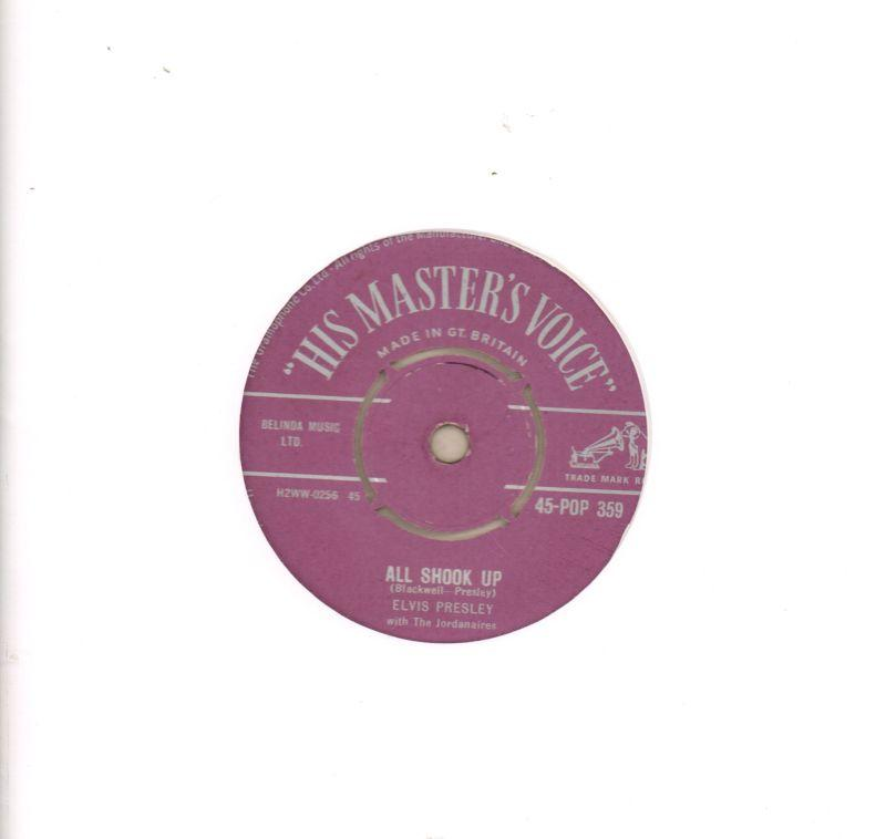 "All Shook Up-HMV-7"" Vinyl"