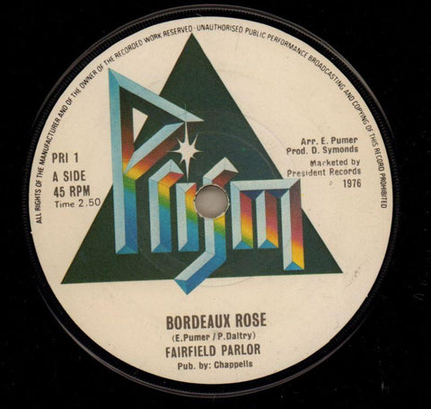 "Bordeaux Rose / Baby Stay For Tonight-Prism-7"" Vinyl"
