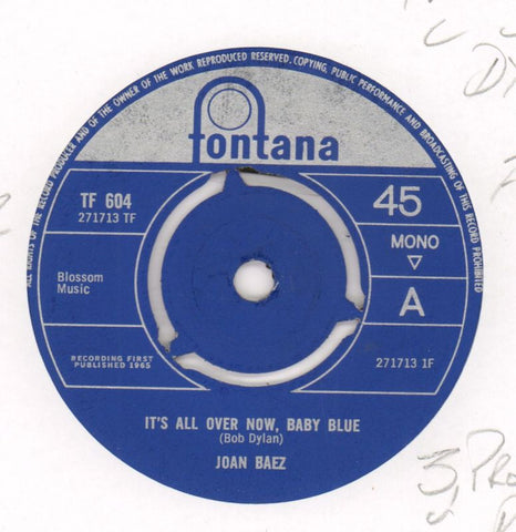 "It's All Over Now / Daddy You've Been On My Mind-Fontana-7"" Vinyl"