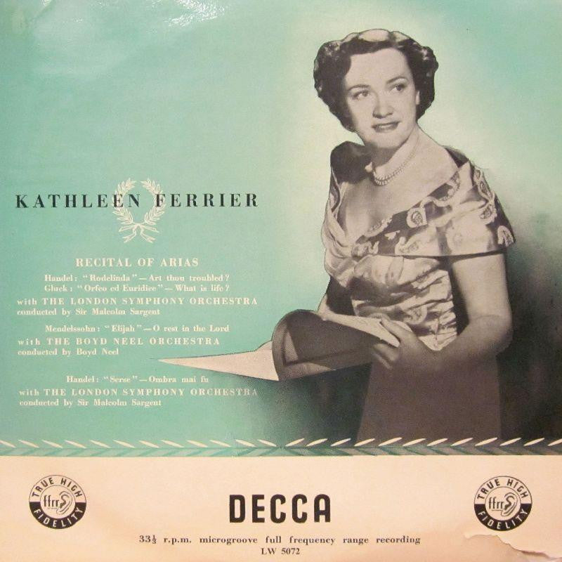 "Kathleen Ferrier-Recital Of Arias-Decca-10"" Vinyl"