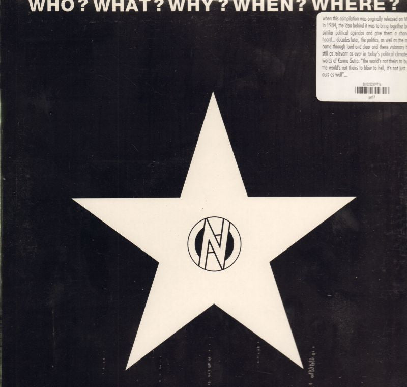Various Punk-Who? What? Why? When? Where?-Get Back-Vinyl LP