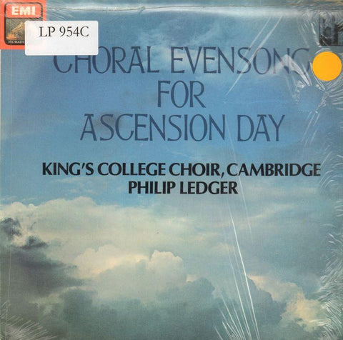 The King's College Choir, Cambridge-Choral Evensong For Ascension Day-HMV-Vinyl LP