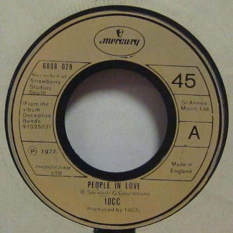 "10CC-People In Love-Mercury-7"" Vinyl"