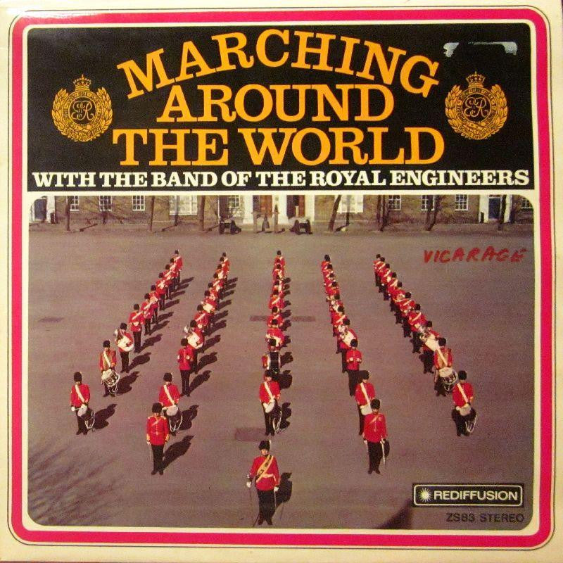 The Band of The Royal Engineers-Marching Around The World-Rediffusion-Vinyl LP