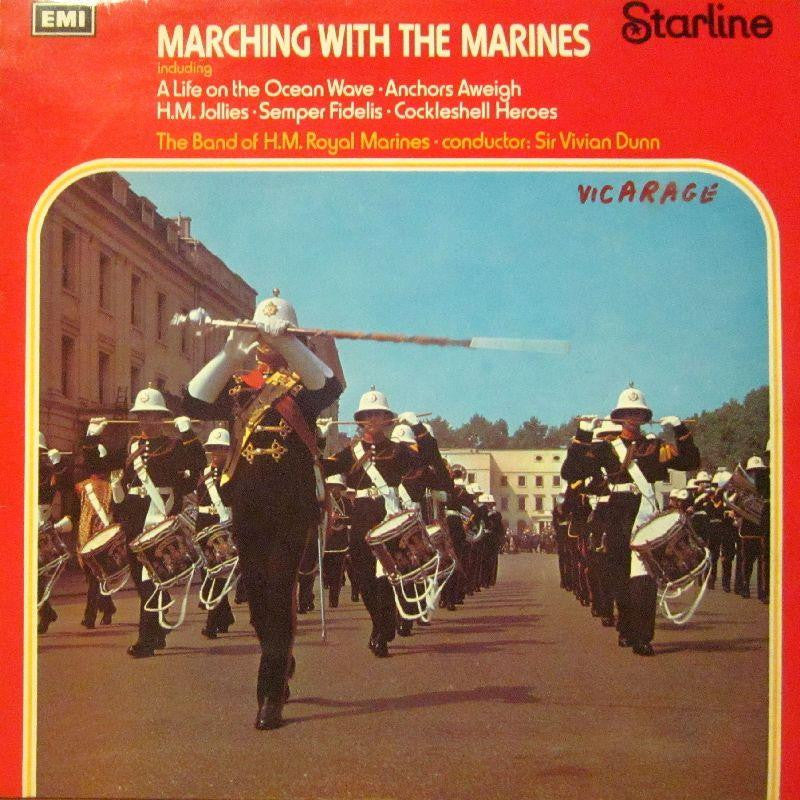 The Band of H.M Marines-Marching With-Starline-Vinyl LP