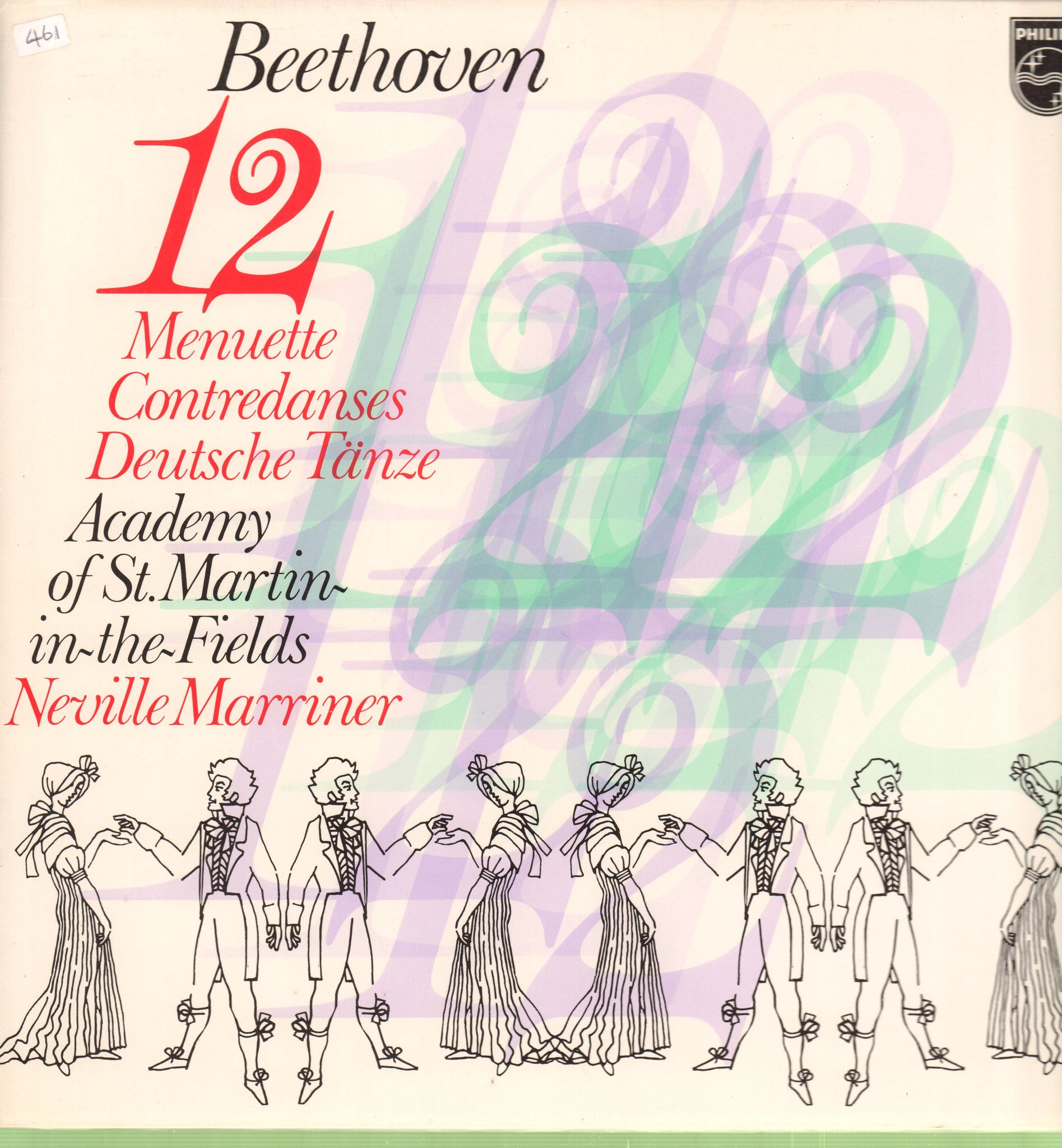 Beethoven-12 Menuette-Philips-Vinyl LP