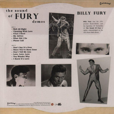 "Billy Fury-The Sound Of Fury Demos-Earmark-10"" Vinyl-M/M"