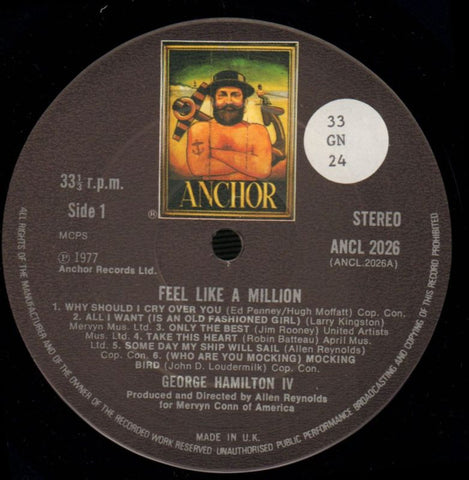 Feel Like A Million-Anchor-Vinyl LP-Ex+/Ex
