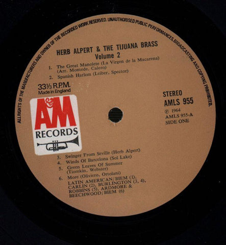 Herb Alpert & The Tijuana Brass-The Brass Are Comin'-A&M-Vinyl LP-VG+/VG+