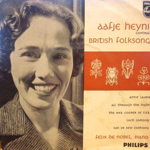 "Aafje Heynis-British Folksongs-Philips-7"" Vinyl P/S"