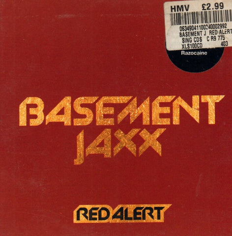 Basement Jaxx-Red Alert-XL Recordings-CD Single