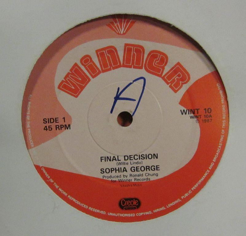 "Sophia George-Final Decision-Winner-12"" Vinyl"