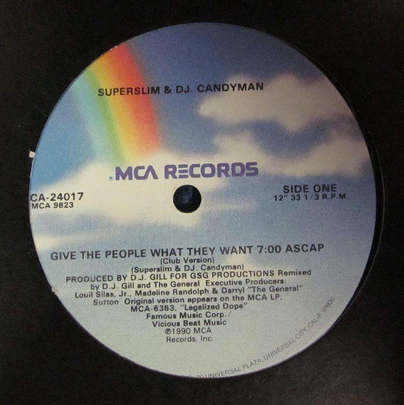 "Superslim & Dj Candyman-Give The People What They Want-MCA Records-12"" Vinyl"