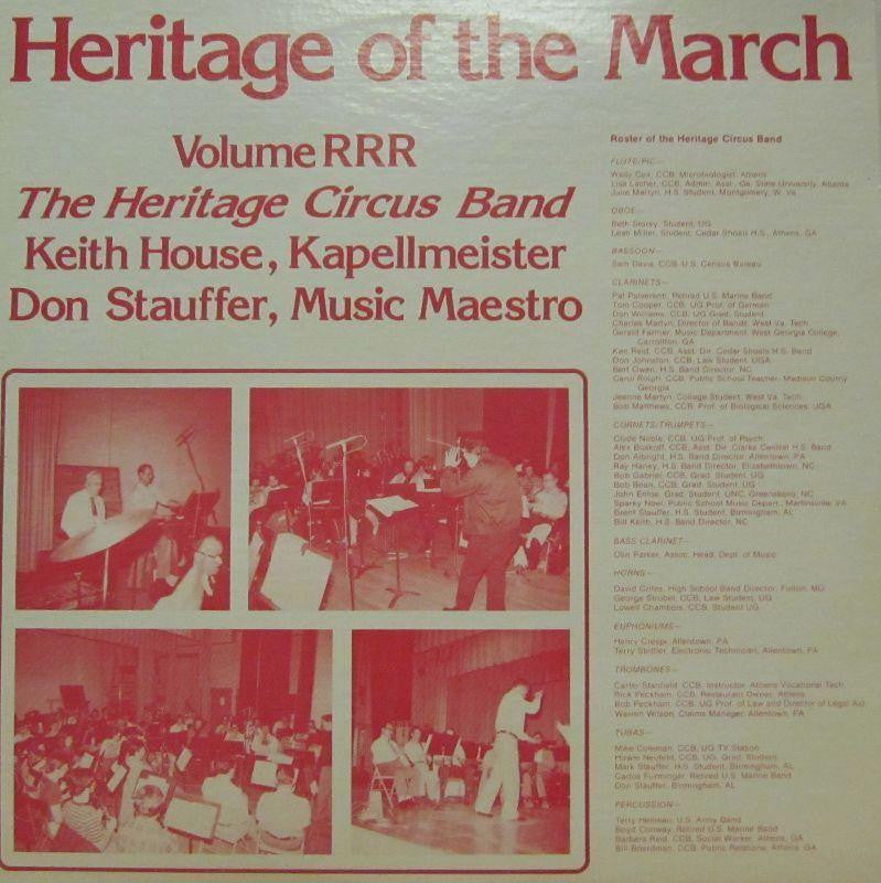 The Heritage Circus Band-Heritage Of The March: Volume RRR-Vinyl LP