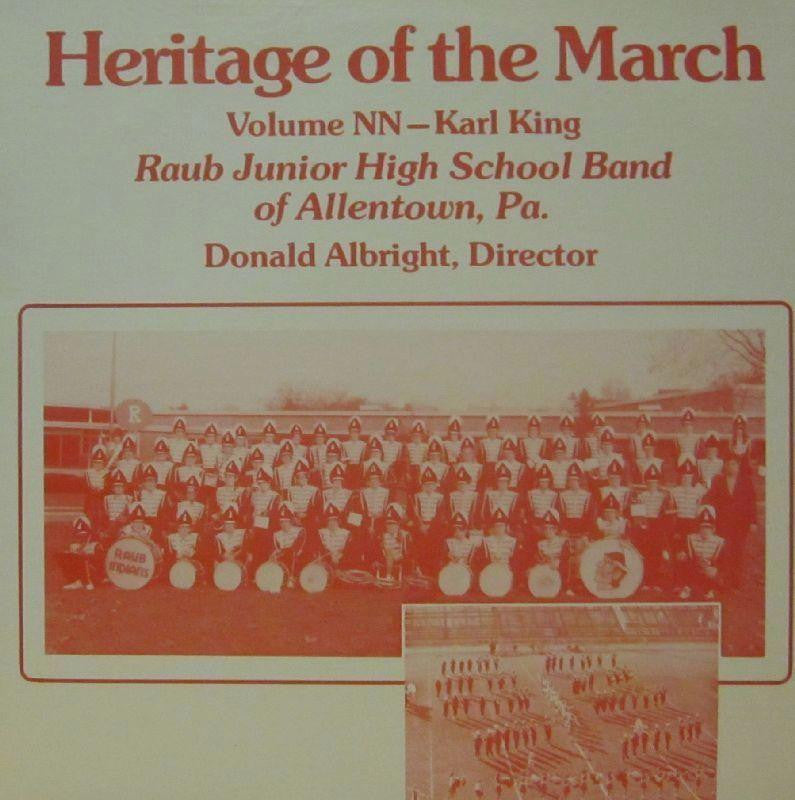 Raub Junior High School Band-Heritage Of The March: Volume NN-Vinyl LP