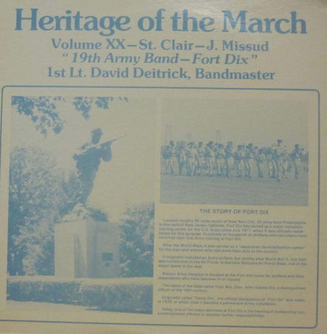 19th Army Band For Dix-Heritage Of The March: Volume XX-Vinyl LP