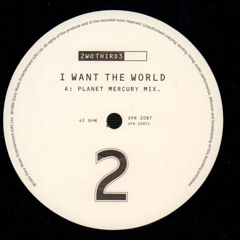 "I Want The World-Sony-2x12"" Vinyl-Ex/Ex"