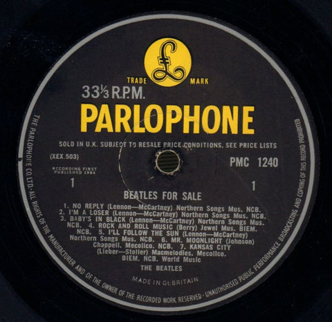 The Beatles-Beatles For Sale-Parlophone-Vinyl LP Gatefold-VG/G
