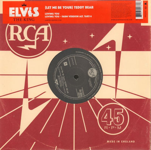 "Elvis Presley-(Let Me Be Your) Teddy Bear 5/18-RCA-10"" Vinyl"