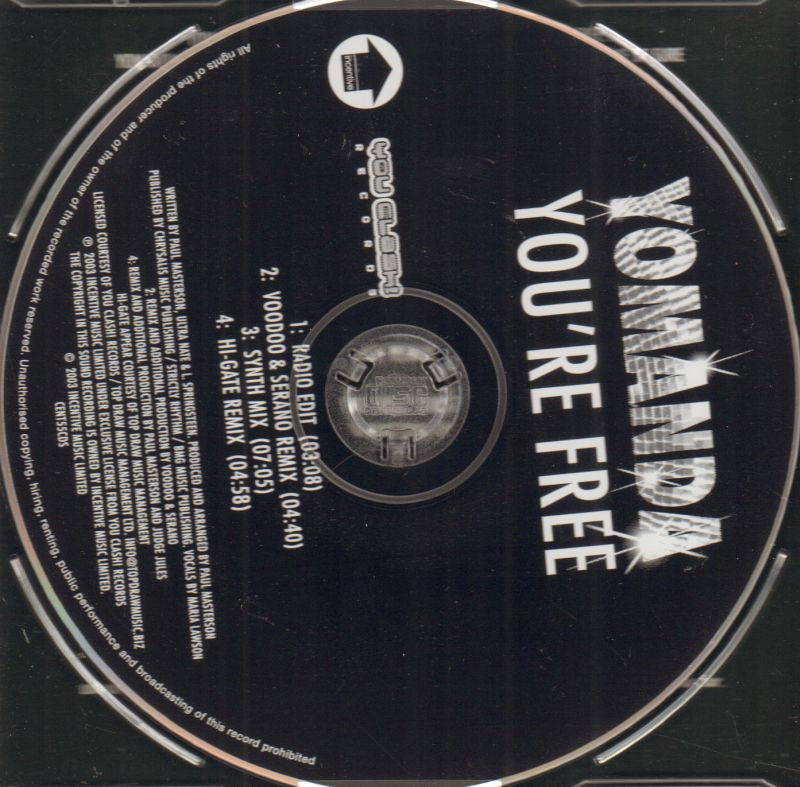 You're Free-CD Single-New