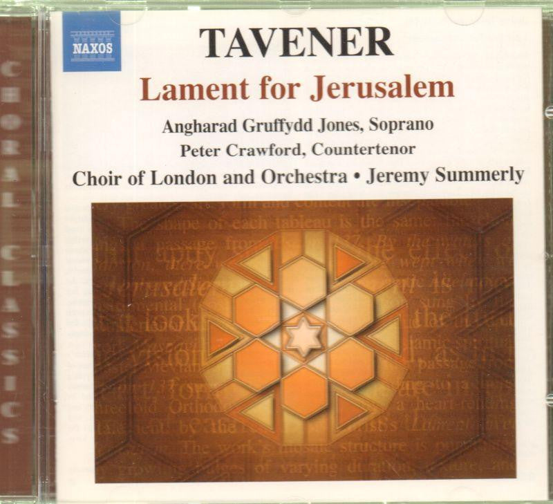 Tavener-Lament For Jerusalem-CD Album
