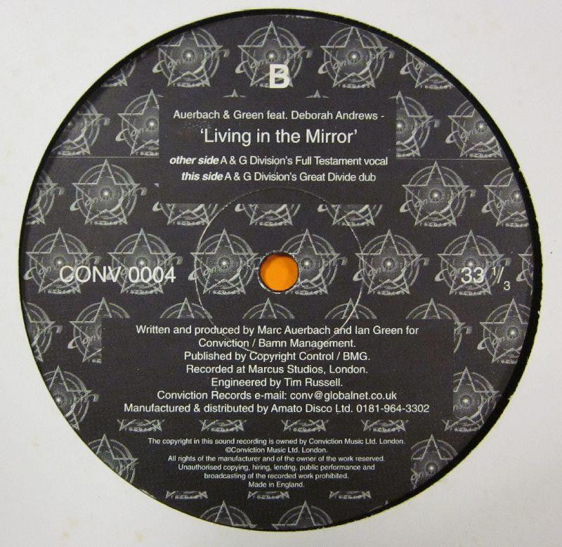 "Auerbach & Green Featuring Deborah Andrews-Living In The Mirror-Conviction Records (3)-12"" Vinyl"