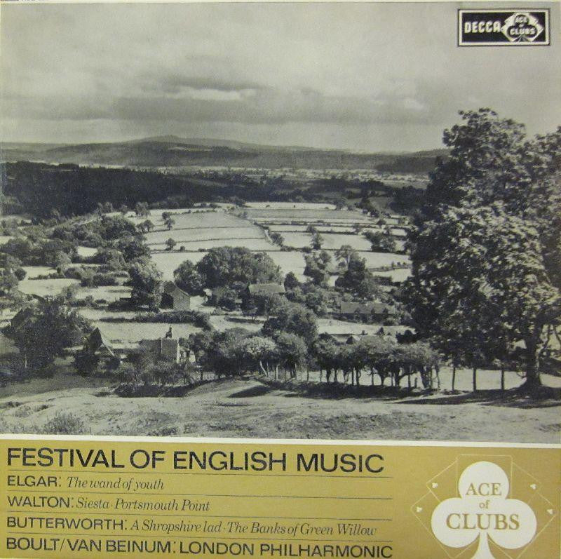 Boult/Van Beinum: London Philharmonic-Festival Of English Music-Ace Of Clubs-Vinyl LP