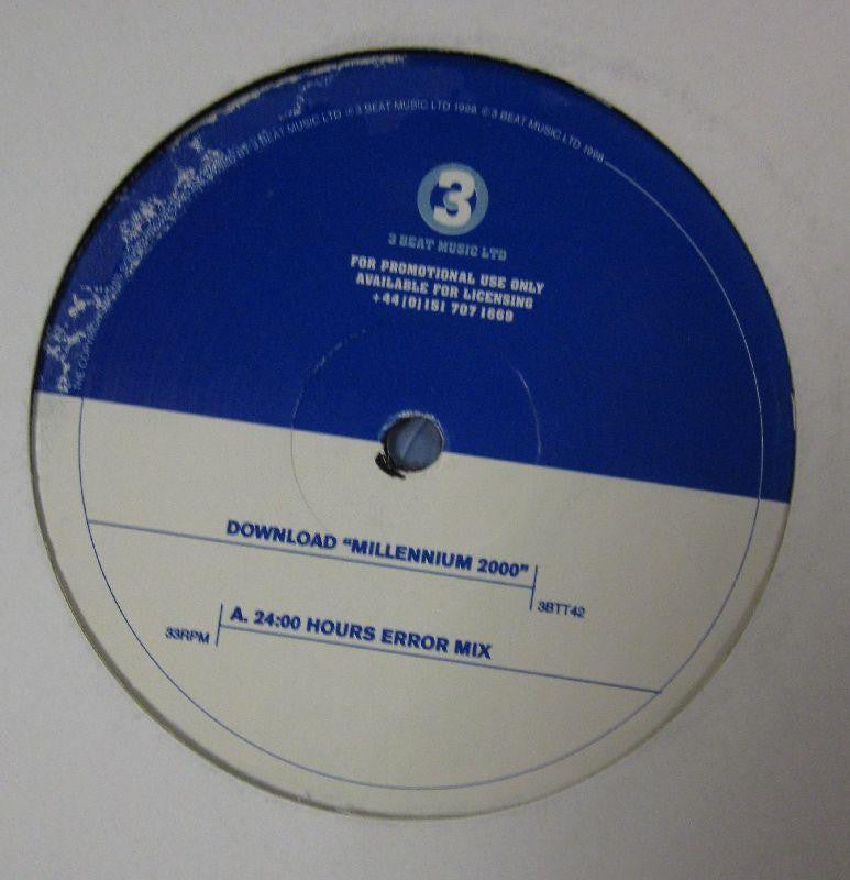 "Download-Millennium 2000-3 Beat Music-12"" Vinyl"