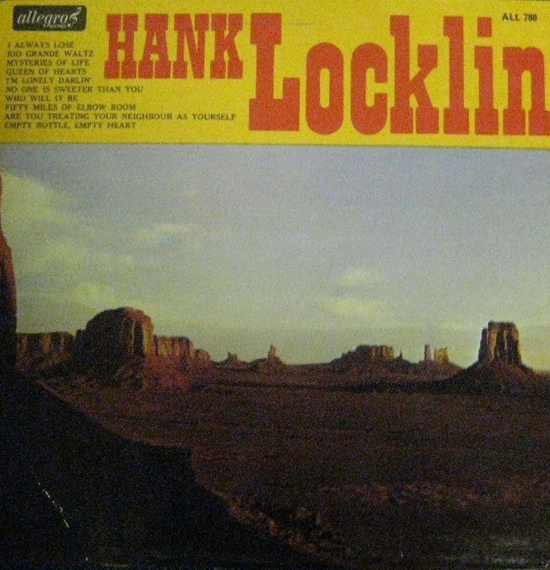Hank Locklin-Hank Locklin-Allegro-Vinyl LP