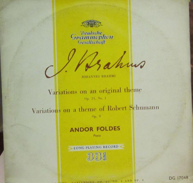 "Brahms-Variations On A Original Theme Op.21-Deutsche Grammophon-10"" Vinyl"