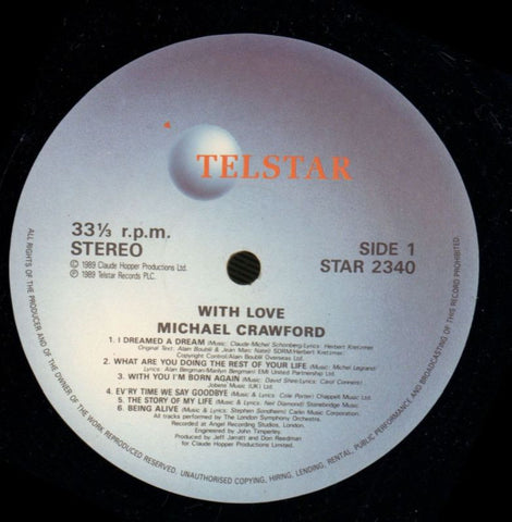 Michael Crawford-With Love-Telstar-Vinyl LP-VG/VG