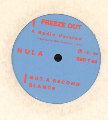 "Hula-Freeze Out-Screaming Red Music-12"" Vinyl-VG/Ex"