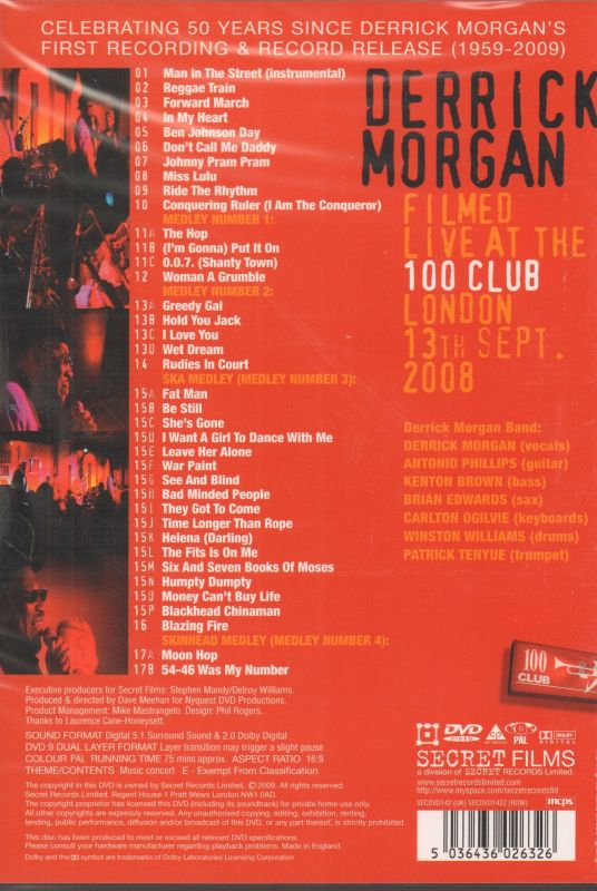 Live At The 100 Club London-Secret-DVD-New
