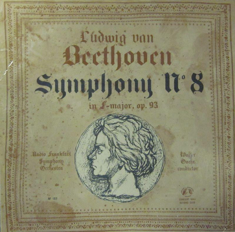 "Beethoven/Goehr-Symphony 8 F Major-Concert Hall-10"" Vinyl"