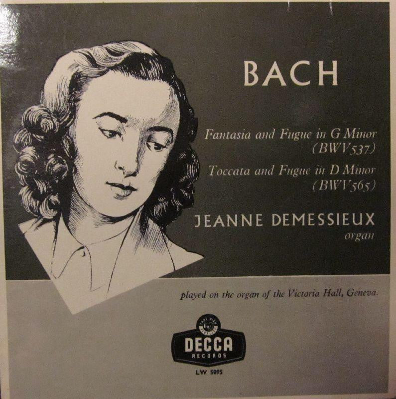 "Bach/Demessieux-Fantasia/Fugue G Minor-Decca-10"" Vinyl"