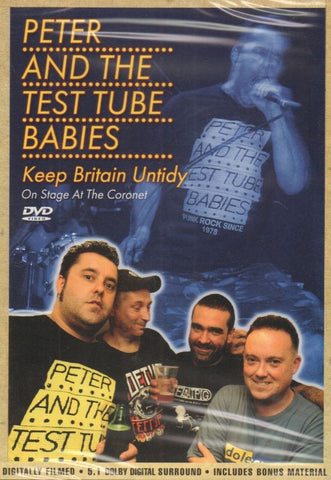 Peter And The Test Tube Babies-Keep Britain Untidy-Secret-DVD