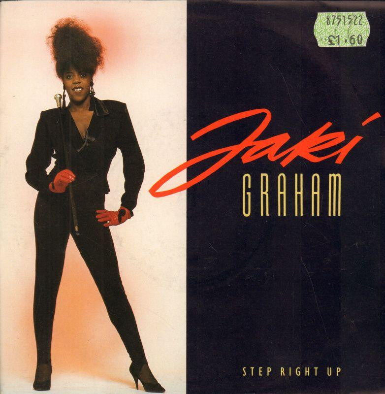 "Jaki Graham-Step Right Up-EMI-7"" Vinyl P/S"
