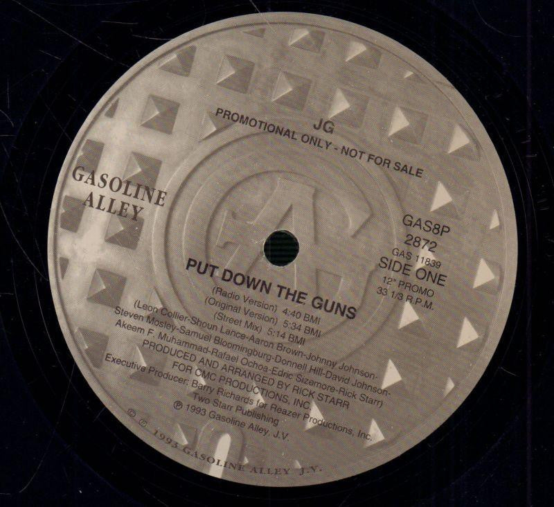 "JG-Put Down The Guns-Gasolina Alley-12"" Vinyl"