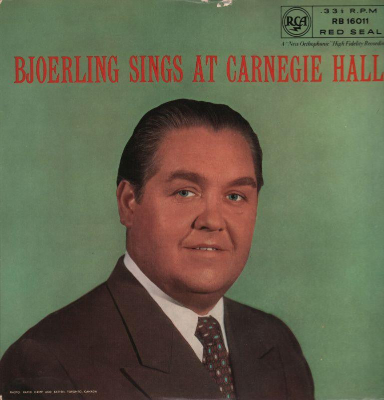Bjoerling-Sings At Carnegie Hall-RCA-Vinyl LP