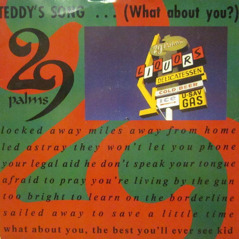 "29 Palms-Teddy's Song-I.R.S.-12"" Vinyl"