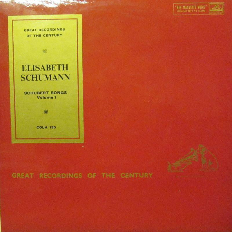 Schumann-Schubert Songs Volume 1-HMV-Vinyl LP