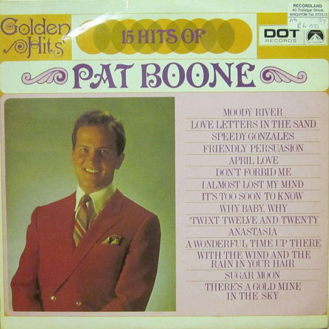 Pat Boone-15 Hiits Of-Dot-Vinyl LP