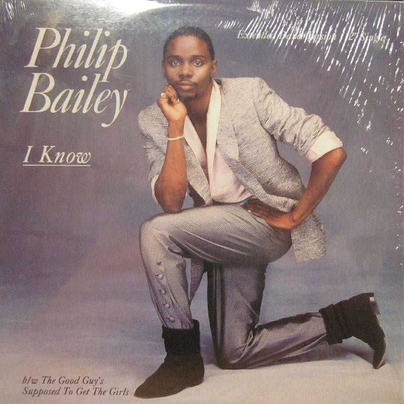 "Philip Bailey-I Know-Columbia-12"" Vinyl"