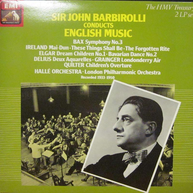 "Sir John Barbirolli-Conducts English Music -HMV-2x12"" Vinyl LP Gatefold"