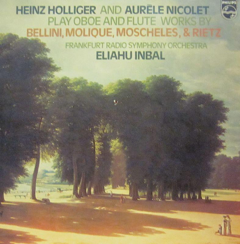 Hollinger/Nicolet-Play Oboe And Flute Works-Philips-Vinyl LP
