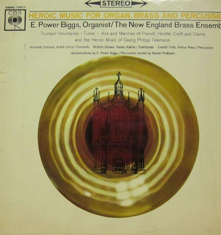 The New English Ensemble-Heroic Music For Organ, Brass And Percussion-CBS-Vinyl LP