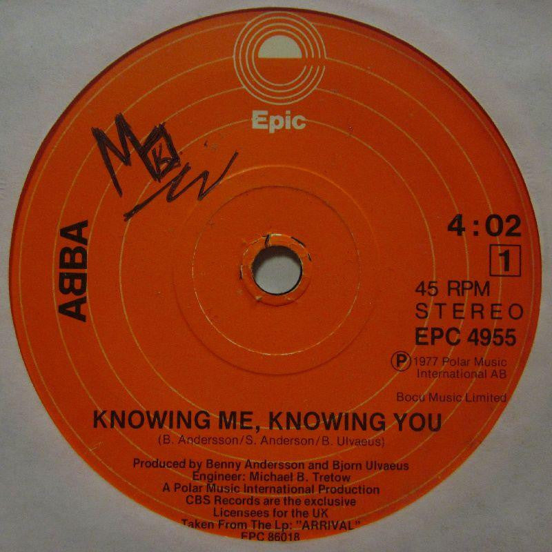 "Abba-Knowing Me Knowing You-Epic-7"" Vinyl"