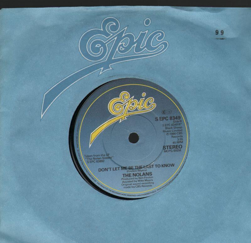 "The Nolans-Don't Let Me Be The Last To Know-7"" Vinyl"