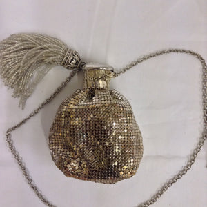 "Silver mesh Whiting and Davis vintage purse. Collectible and wearable. Don't worry, your escort can carry your cell phone!  Dimensions - Height 4 1/2""; Width 3"";  Handle 21"""
